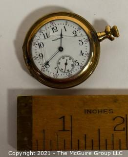 Gold Waltham Ladies Pocket Watch.  Cracked Crystal and Untested.