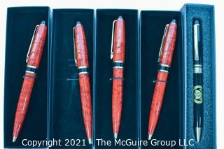 "Five ""The White House"" Ball Point Pens, All in Boxes."
