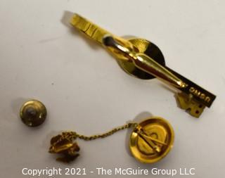 Three (3) Marine Pins and Tie Clip