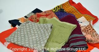Group of Ladies Scarves and Shawls.  Includes Salvatore Ferragamo & Eileen Fisher.