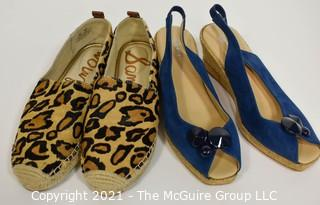Two (2) Pairs of Women's Shoes.  Includes Sam Edelman & Eric Michael.  Size approximately 7 1/2 to 8.