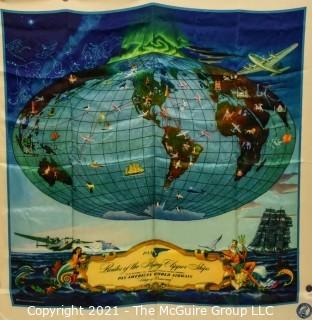 Pan Am Airlines (PAA) Silk Scarf; 35 x 35""