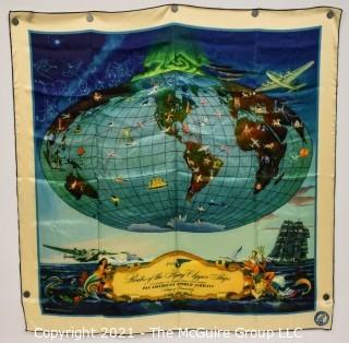 """Pan Am Airlines (PAA) Silk Scarf; 35 x 35"""""""
