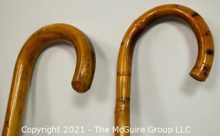 Group of (5) Canes and Walking Sticks