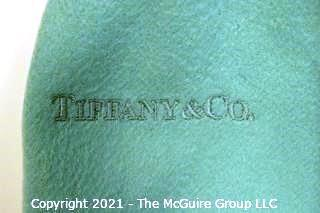 Tiffany & Co. Blue Embroidered Cashmere Scarf, Made in Italy.