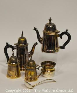 Silver Tea and Coffee Set; marked NRA
