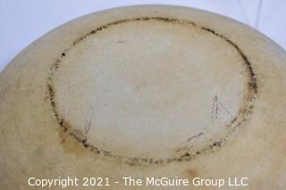 "2 Pottery serving bowls; 7 1/2"" & 10"" diameters"