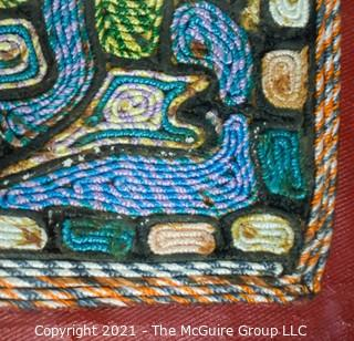 """Framed Under Glass Embroidered Thread Art Picture.  Measures approximately 23 x 32"""""""