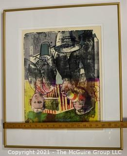 """Framed Under Glass Signed & Numbered Print.  It measures approximately 20 x 24"""""""