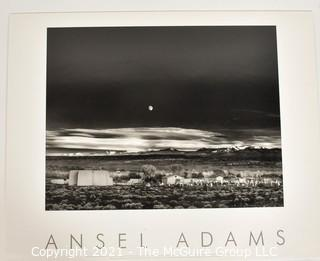 "Ansel Adams Authorized Edition Stamped Print Mounted on Foam Board of ""Moonrise, Hernandez NM"". It measures approximately 30"" x 24""."