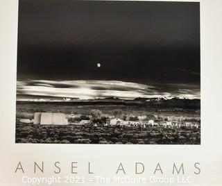 """Ansel Adams Authorized Edition Stamped Print Mounted on Foam Board of """"Moonrise, Hernandez NM"""". It measures approximately 30"""" x 24""""."""