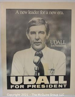 """Vintage Mo Udall 1976 Presidential Campaign Poster.  It measures 24"""" x 19""""."""