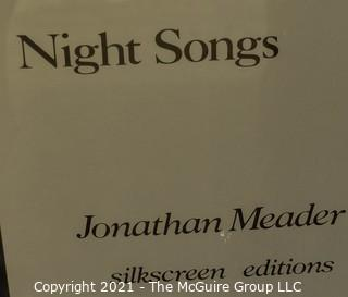 "Signed by Artists and Framed Under Glass Serigraph ""Night Songs"" Unicorn by Jonathan Meader (Ascian).  It measures approximately"