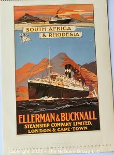 Vintage Art calendars: Art Deco Femme Fatale and Maritime Cunard posters