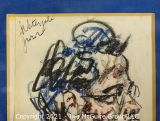 Watergate Juror; sketched by and presented to Sue Grabowski by Howard Brodie, court artist for CBS News