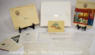 Presidental Election Memorbilia.  Proposed Designs for the 1980 Inaugural Ball for President Jimmy Carter That Did Not Occur.