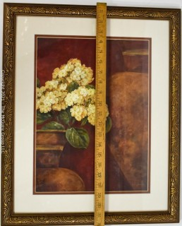 """Print Framed Under Glass of """"Tuscan Summer"""" by Pamela Gladding.  Measures approximately 18"""" x 22""""."""