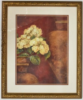 "Print Framed Under Glass of ""Tuscan Summer"" by Pamela Gladding.  Measures approximately 18"" x 22""."