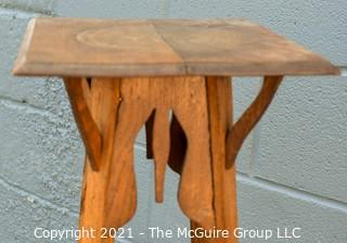 "Arts & Craft Style Wood Plant Stand or Table.   Measures approximately 43""."