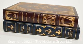 Books: Two (2) leather bound books published by the Franklin Library