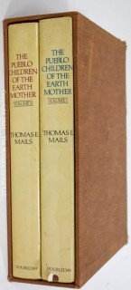 "Books: Two (2) Volume Set in Slip Cover: ""The Pueblo Children of the Earth Mother"", by Thomas E. Mails"