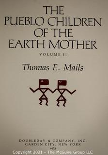 """Books: Two (2) Volume Set in Slip Cover: """"The Pueblo Children of the Earth Mother"""", by Thomas E. Mails"""