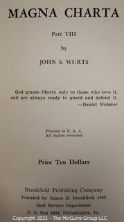 "Books: Collection of 3 books; Vol. 4, 7 and 8 of: ""The Magna Charta"" by John S. Wurts"