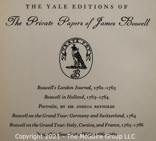 Books: Collection of 4 Boswell works published by Yale University.