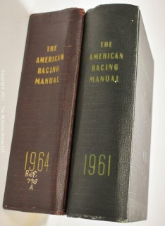 "Books: 1961 and 1964 volumes of ""The American Racing Manual"""