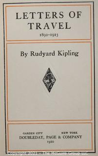 """Books: Collection of 4 books including """"Letter of Travel"""" by Rudyard Kipling"""
