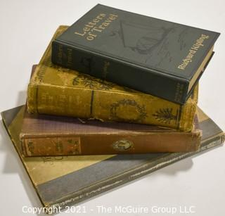 "Books: Collection of 4 books including ""Letter of Travel"" by Rudyard Kipling"