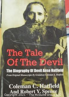 """Books: Collection of 6 books including """"The Tale of the Devil"""" by Coleman C. Hatfield; autographed"""