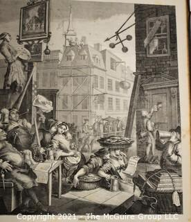 """Books: Collection of 2 books including """"Works of Hogarth"""" with 62 Illustrations"""