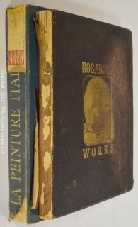 "Books: Collection of 2 books including ""Works of Hogarth"" with 62 Illustrations"