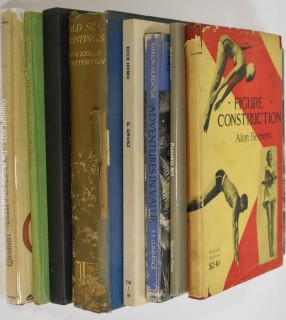 "Books: Collection of 9 books including ""Figure Construction"" by Alon Bement"