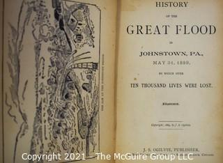 "Books: Collection of 5 books including ""The History of the Great Flood of Johnstown, Pennsylvania"""