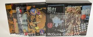 Books: Collection of 7 books including 5 book WW II series in slipcover