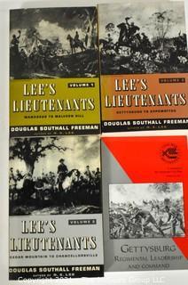 "Books: 3 Vol Series titled: ""Lee's Lieutenants"" by Douglas Freeman"