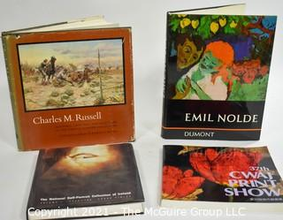 "Books: Collection of 4 books including ""Charles M. Russell"" by Frederic G. Runner"