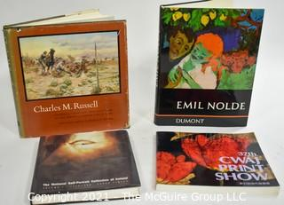 """Books: Collection of 4 books including """"Charles M. Russell"""" by Frederic G. Runner"""