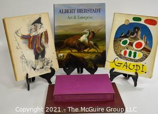 "Books: Collection of 5 books including ""1800 Woodcuts by Thomas Bewick and His School"", Artist Ben Shahn, Artist and Architect Antonio Gaudi,"