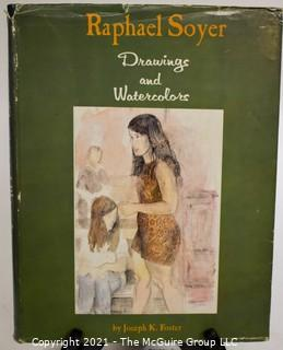 "Book: ""Raphael Soyer: Drawings and Watercolors"" by Joseph K. Foster; Signed by the artist; 1969"