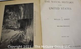 """Books: Vol I and II of """"The Naval History of the United States"""" by Willis J. Abbot"""""""