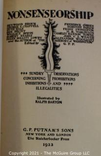 "Books: Collection of 7 books including ""Noncensorship - Sundry Observations Concerning Prohibitions, Inhibitions and Illegalities"""