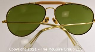 """Pair of Ray-Ban Classic Outdoorsman Aviator Sunglasses """"Arista"""" with Case and Paperwork."""