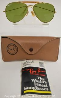 "Pair of Ray-Ban Classic Outdoorsman Aviator Sunglasses ""Arista"" with Case and Paperwork."