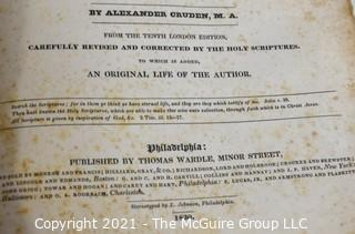 "Book: 1830 Leather bound ""A Complete Concordance to the Holy Scriptures of the Old and New Testament"""