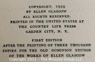 """Books: Collection of 5 books including """"They Stooped to Folly"""" by Ellen Glasgow"""