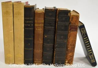 "Books: Collection of 8 books including ""The Life of Henry The Fourth"" by GPR James, Esq. Vol. I"