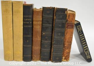 """Books: Collection of 8 books including """"The Life of Henry The Fourth"""" by GPR James, Esq. Vol. I"""